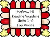 2nd Grade HFW Pop Words ~ Reading Wonders ~ Units 1-6 Bundle
