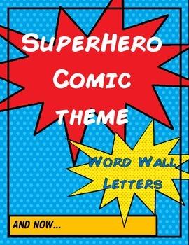 Superhero Comic Word Wall Cards