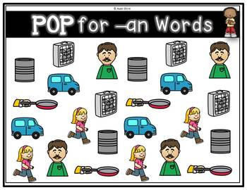 Pop for short a Word Family