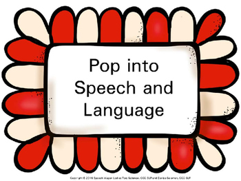 Pop into Speech and Language decor
