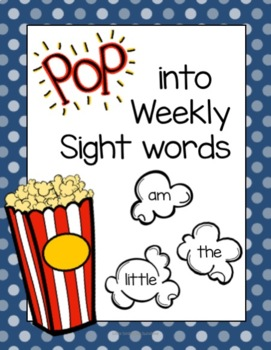 Pop into Weekly Popcorn Words
