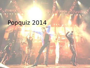 Pop quizz 2014 - Music and trivia Quizz