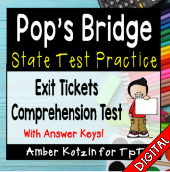 Pop's Bridge Comprehension Tickets - 3rd Grade Journeys Test Prep