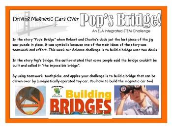 Pop's Bridge ELA Integrated - STEM Challenge (Bridge Building)