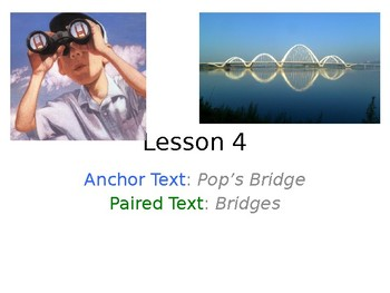 Pop's Bridge PowerPoint with Weekly Activities for Journeys 3rd Grade