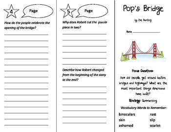 Pop's Bridge Trifold - Imagine It 4th Grade Unit 5 Week 5