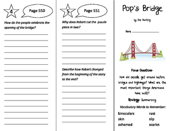 Pop's Bridge Trifold - Imagine It 4th Grade Unit 5 Week 5