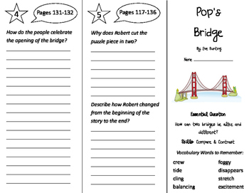 Pop's Bridge Trifold - Journeys 3rd Grade Unit 1 Week 4 (2011)