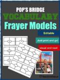 Pop's Bridge Vocabulary Frayer models
