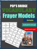 Pop's Bridge Vocabulary Frayer models