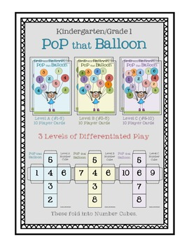 Number Sense Math Game (Kinder/1st)
