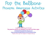Pop the Balloons: Phonemic Awareness Activities