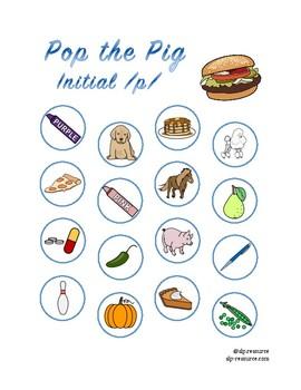 Pop the Pig initial /p/ articulation