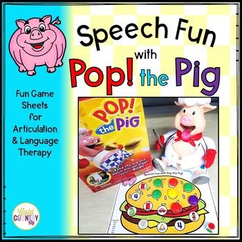Pop the Pig Speech and Language Fun
