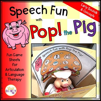 Pop the Pig Speech and Language Fun EARLY words!