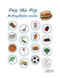 Pop the Pig multisyllabic words articulation
