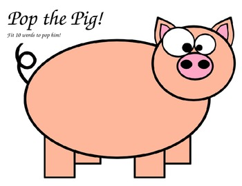 Pop the Pig phonics game-short and long vowels- picture for game