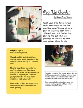 Pop-up Garden: free card game for the little ones!