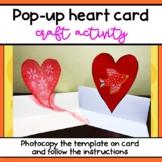Pop-up Heart Card craft activity