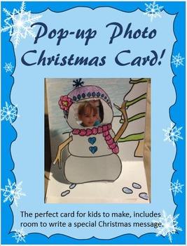 Pop-up Photo Christmas Card