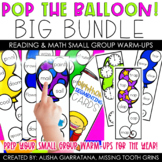 Pop The Balloon! Small Group Game BIG Bundle for Sight Words, Phonics, and Math