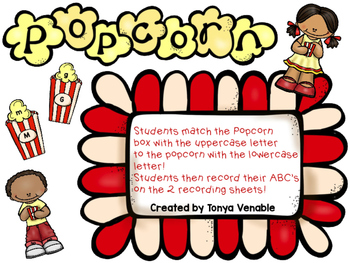 Popcorn ABC Match game