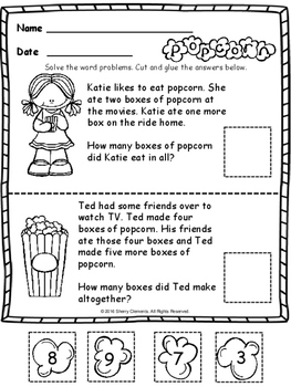 Popcorn Addition FREEBIE