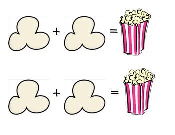 Popcorn Addition Mat Freebie