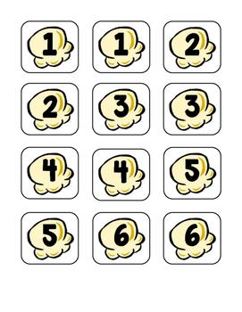 Popcorn Addition/Subtraction Math