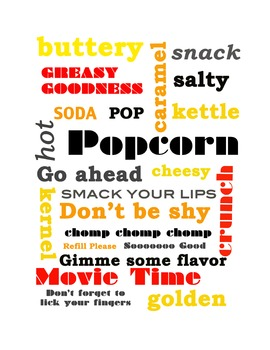 Popcorn Adjectives and Inspiration