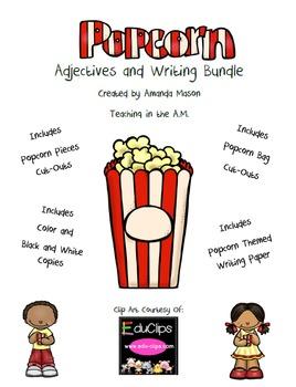 Popcorn Adjectives and Writing Bundle