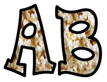 Popcorn Alphabet Bulletin Board Letters