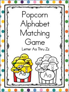 Popcorn Alphabet Matching Aa Thru Zz BUNDLE