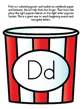 Popcorn Alphabet Matching Dd