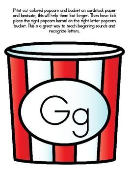 Popcorn Alphabet Matching Gg