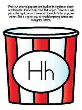 Popcorn Alphabet Matching Hh