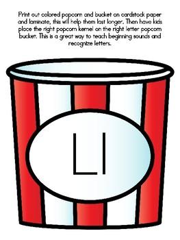 Popcorn Alphabet Matching Ll