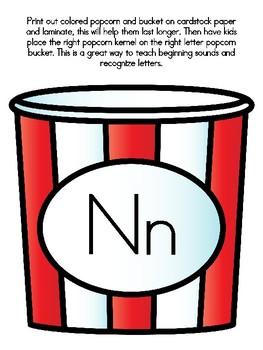 Popcorn Alphabet Matching Nn