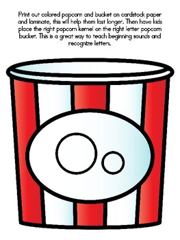 Popcorn Alphabet Matching Oo