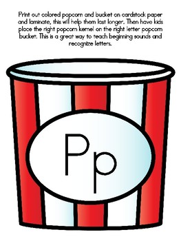 Popcorn Alphabet Matching Pp
