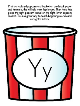 Popcorn Alphabet Matching Yy