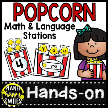 Popcorn Alphabet, Word Wall, Words & Number Stations