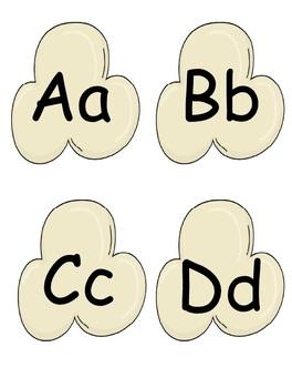 Popcorn Alphabetic Activities