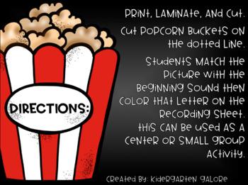 BEGINNING SOUND MATCH - Popcorn