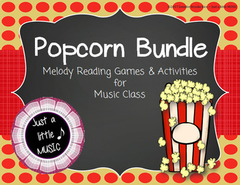 Popcorn BUNDLE ~ 8 activities & games for melody & more
