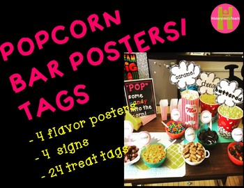 Popcorn Bar Posters and tags