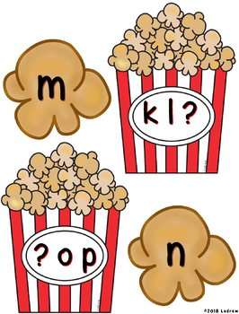 Popcorn Centers Beginning Sounds Carnival Circus Movie Literacy Centers
