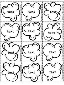 Popcorn Bingo Editable Boards & Cards