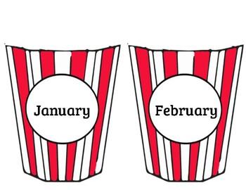 Popcorn Birthday Bulletin Board Display