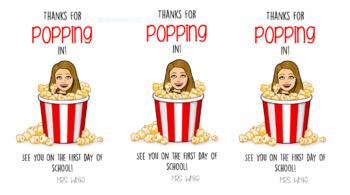 Popcorn Bitmoji BTS Label